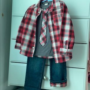 Boys 3T matching set -jeans and button-down